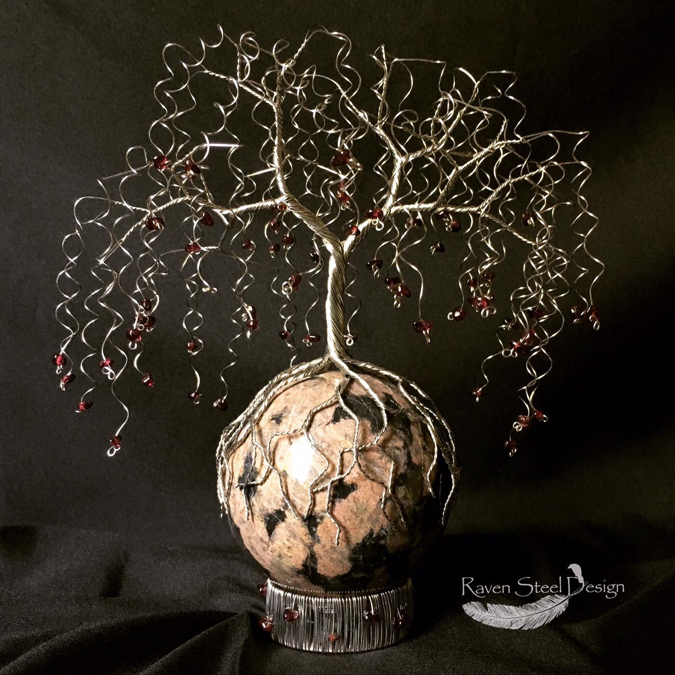 Weeping Willow Wire Tree Artist Wire Art Sculpture